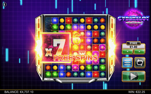 Cyberslot Megaclusters Free Spins Trigger