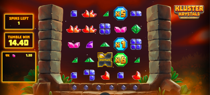 Kluster Krystals Megaclusters free spins with multiplier jewels